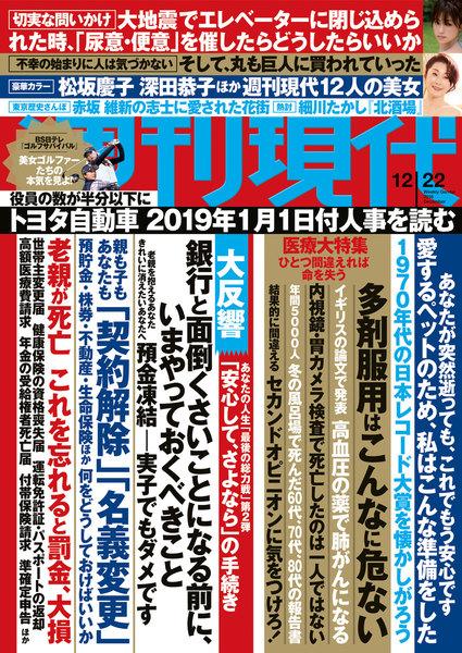 週刊現代 2018年12月22日号(12月10日発売)